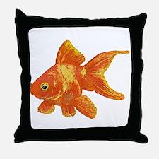 Cute Gold fish Throw Pillow