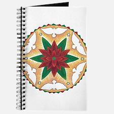 Poinsettia Peace Mandala Journal
