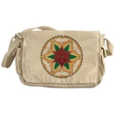 Poinsettia Peace Mandala Messenger Bag