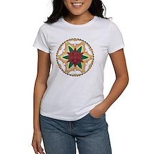 Poinsettia Peace Mandala T-Shirt