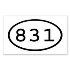 831 Oval Rectangle Decal