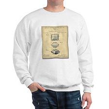 Charcoal Patent<br> Sweatshirt