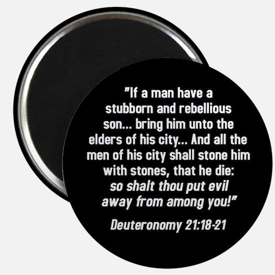 Deuteronomy 21:18-21 Magnet