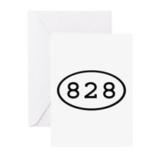 828 Oval Greeting Cards (Pk of 10)