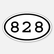 828 Oval Oval Decal