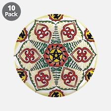 "African Adinkra Mandala 3.5"" Button (10 pack)"