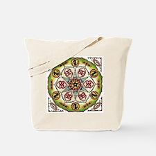 African Adinkra Mandala Tote Bag