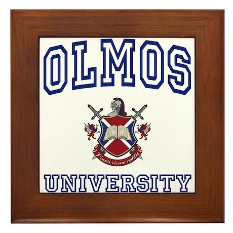 OLMOS University Framed Tile