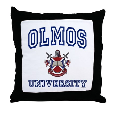 OLMOS University Throw Pillow
