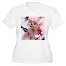 cherry blossoms Plus Size T-Shirt