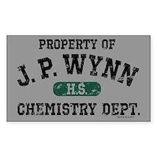 JP Wynn Chemistry Dept Decal