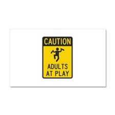Caution Adults at Play Car Magnet 20 x 12