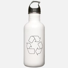 black recycle carbon footprints.png Water Bottle