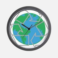 earth with recycle symbol.png Wall Clock