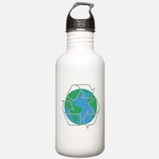 earth with recycle symbol.png Water Bottle