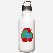 earth with red recycle symbol.png Water Bottle