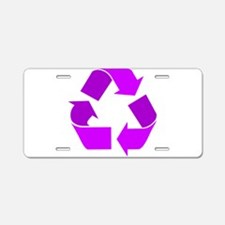 purple recycle symbol.png Aluminum License Plate