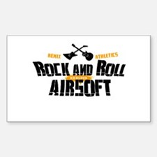 Rock and Roll Airsoft Rectangle Decal