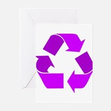 purple recycle symbol.png Greeting Cards