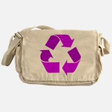 purple recycle symbol.png Messenger Bag