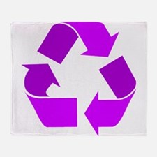 purple recycle symbol.png Throw Blanket