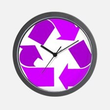 purple recycle symbol.png Wall Clock
