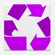 purple recycle symbol.png Tile Coaster