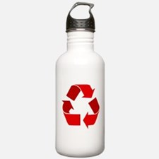 red recycle symbol.png Water Bottle