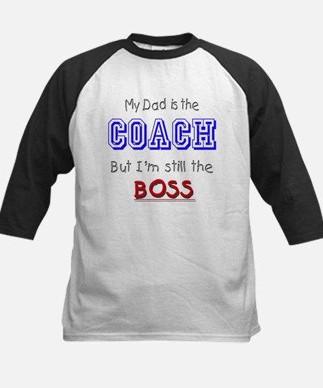 My Dad Is The COACH Kids Baseball Jersey