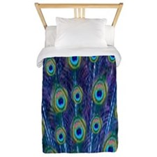 Peacock Feathers Twin Duvet