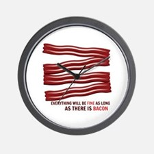 As Long As There Is Bacon Wall Clock