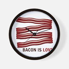 Bacon Is Love Wall Clock