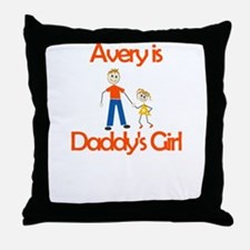 Avery is Daddy's Girl Throw Pillow