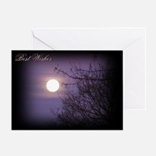 "Moon ""Best Wishes"" Greeting Card"