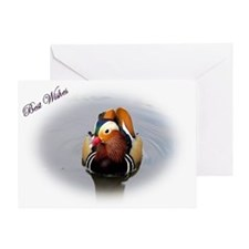 "Mandarin Duck ""Best Wishes"" Greeting Car"