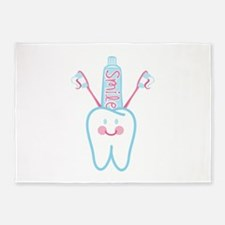 Smile Tooth 5'x7'Area Rug