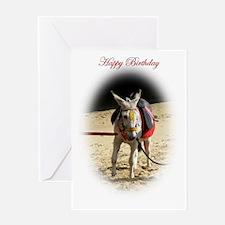 "Donkey ""Birthday"" Greeting Card"