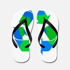 recycle symbol made of the earth.png Flip Flops