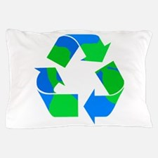 recycle symbol made of the earth.png Pillow Case