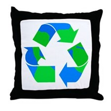 recycle symbol made of the earth.png Throw Pillow