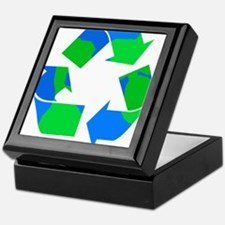 recycle symbol made of the earth.png Keepsake Box