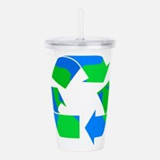 recycle symbol made of the earth.png Acrylic Doubl