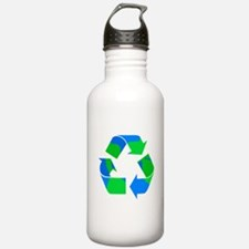 recycle symbol made of the earth.png Water Bottle