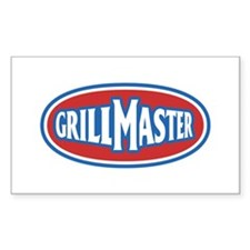GrillMaster Logo Rectangle Stickers