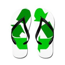 green recycle symbol.png Flip Flops