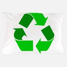 green recycle symbol.png Pillow Case