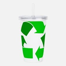 green recycle symbol.png Acrylic Double-wall Tumbl