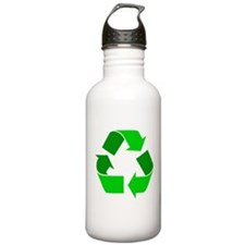 green recycle symbol.png Water Bottle