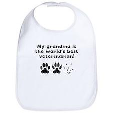 My Grandma Is The Words Best Veterinarian Bib