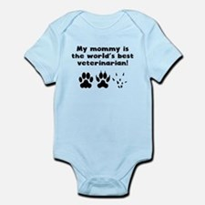 My Mommy Is The Words Best Veterinarian Body Suit
